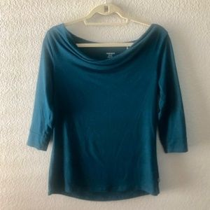 Toad&Co Turquoise Blue 3/4 sleeve shirt (Size S)